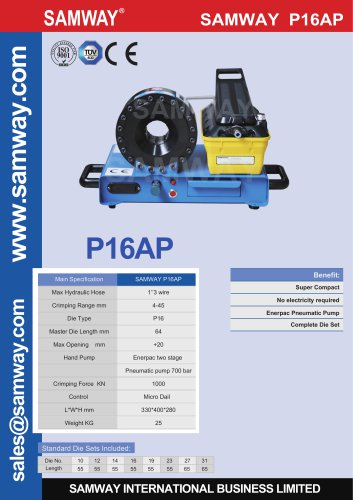 SAMWAY P16AP  Hydraulic Hose Crimping Machine