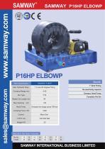 SAMWAY P16HP  ELBOW  Hydraulic Hose Crimping Machine - 1