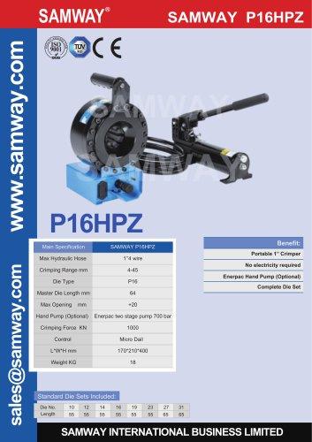 SAMWAY P16HPZ  Hydraulic Hose Crimping Machine