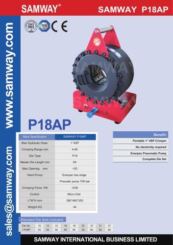 SAMWAY P18AP  Hydraulic Hose Crimping Machine