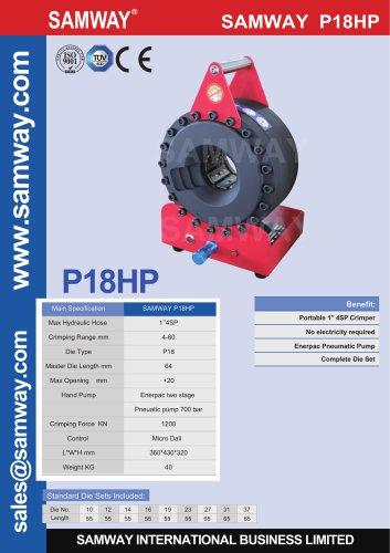 SAMWAY P18HP  Hydraulic Hose Crimping Machine