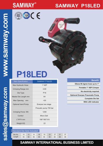 Samway P18LED Crimping Machine