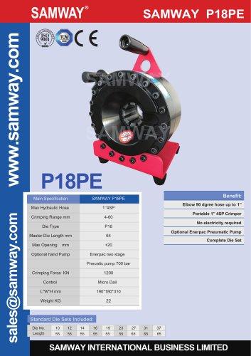 SAMWAY P18PE  Hydraulic Hose Crimping Machine