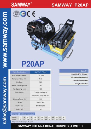 SAMWAY P20AP  Hydraulic Hose Crimping Machine