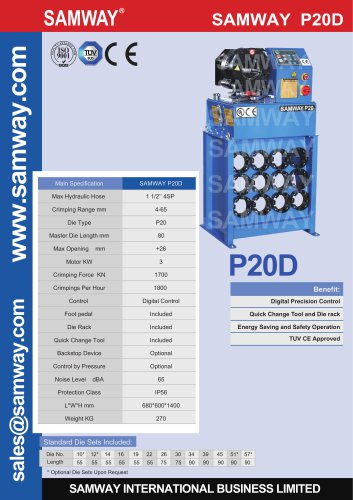 SAMWAY P20D Hydraulic Hose Crimping Machine