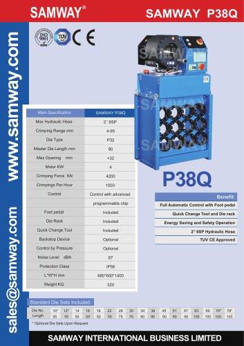 SAMWAY P38Q  Hydraulic Hose Crimping Machine
