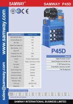 SAMWAY P45D Hydraulic Hose Crimping Machine - 1