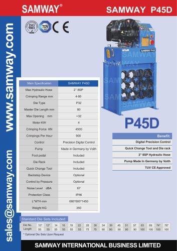 SAMWAY P45D Hydraulic Hose Crimping Machine