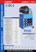 SAMWAY P51D Hydraulic Hose Crimping Machine - 1