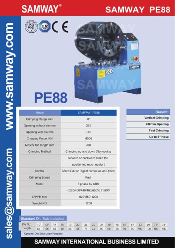 SAMWAY PE88 Hose Crimping Machine