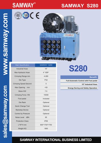 SAMWAY S280  Hydraulic Hose Crimping Machine