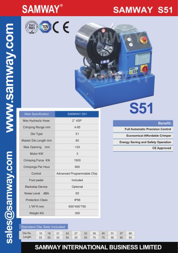 SAMWAY S51  Hydraulic Hose Crimping Machine