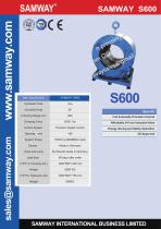"SAMWAY S600 24"" Industrial Hose Crimping Machine - 1"