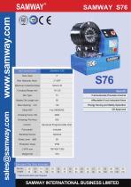 SAMWAY S76  Hydraulic Hose Crimping Machine - 1