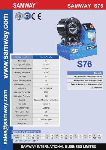 SAMWAY S76  Hydraulic Hose Crimping Machine