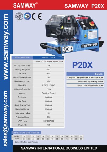 SAMWAY SAMWAY P20X  12/24V DC For Mobile Van or Truck