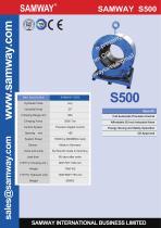 "SAMWAY SAMWAY S500 20"" Industrial Hose Crimping Machine - 1"