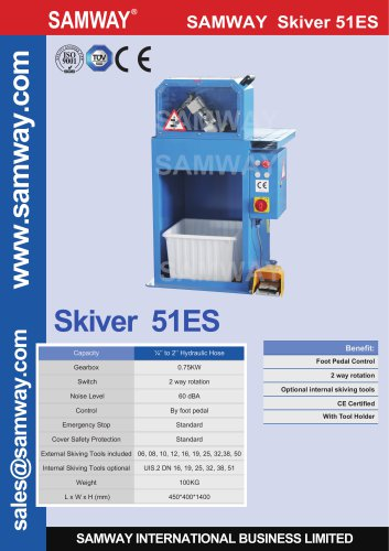 SAMWAY Skiver 51ES  Hydraulic Hose Skiving Machine