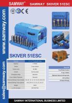 SAMWAY Skiver 51ESC  Hydraulic Hose Skiving Machine - 1
