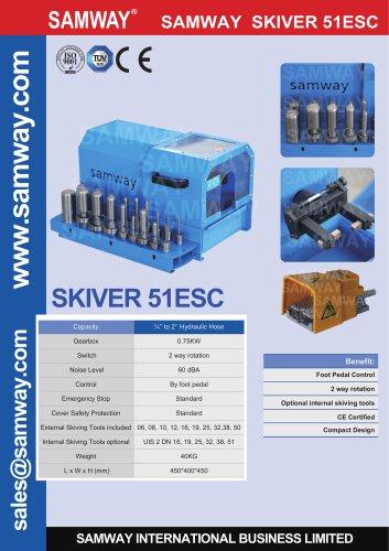 SAMWAY Skiver 51ESC  Hydraulic Hose Skiving Machine