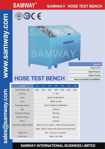 SAMWAY T300  Hydraulic Hose Testing Bench