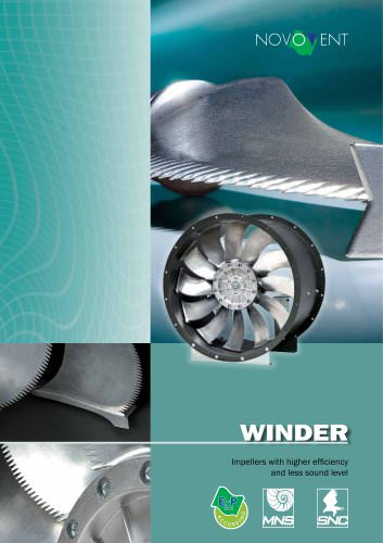 IMPELLERS WITH HIGHER EFFICIENCY AND LESS SOUND
