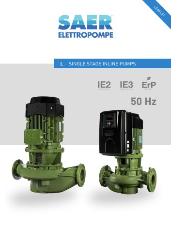 L SERIES IN LINE PUMPS