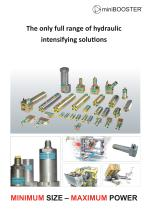 The only full range of hydraulic intensifying solutions