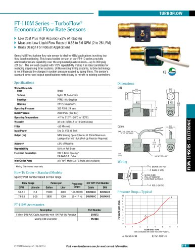 FT-110 Series Turbine Flow Sensor