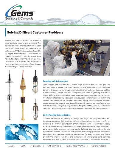 Gems Sensors & Controls: Solving Difficult Customer Problems (White Paper)