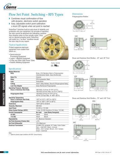 RFS Type Electronic Flow Sensor