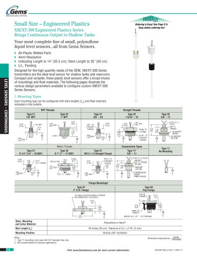XM-XT 300 Series Continuous Level Transmitter