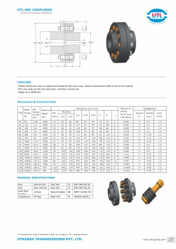 UTL URC COUPLINGS