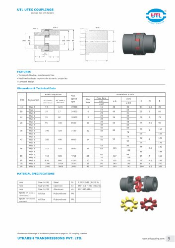 UTL UTEX COUPLINGS