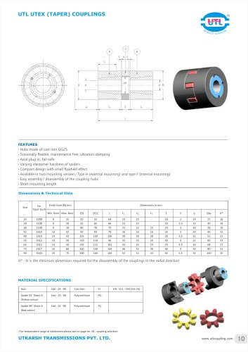 UTL UTEX (TAPER) COUPLINGS