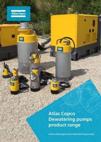 Atlas Copco Dewatering pumps product range