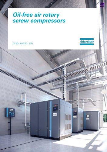 Oil-free air rotary screw compressors