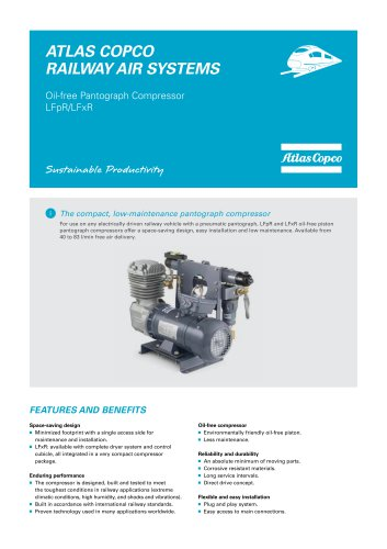 Oil-free Pantograph Compressor LFpR/LFxR