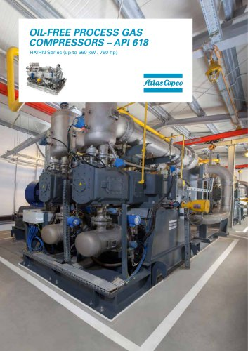 OIL-FREE PROCESS GAS COMPRESSORS – API 618 HX/HN Series (up to 560 kW / 750 hp)