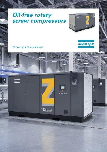 Oil-free rotary screw compressors ZR 300-750 & ZR 400-900 VSD