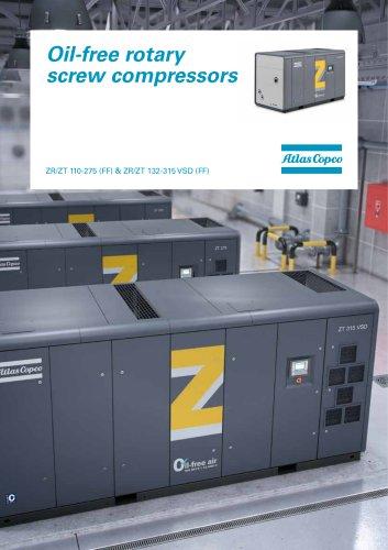 Oil-free rotary screw compressors ZR/ZT 110-275 (FF) & ZR/ZT 132-315 VSD (FF)