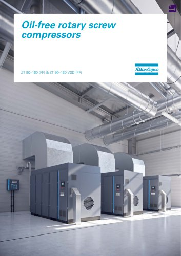 Oil-free rotary screw compressors ZT 90–160 (FF) & ZT 90–160 VSD (FF)