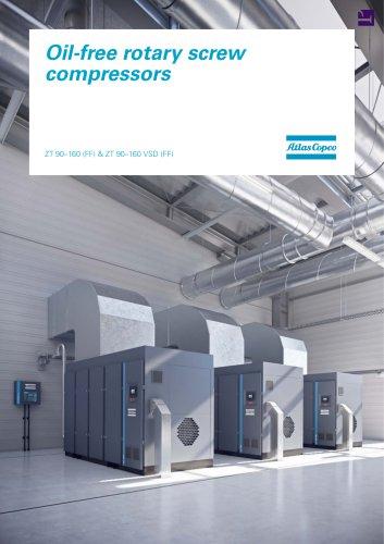 Oil-free rotary screw compressors ZT 90–160 (FF) & ZT 90–160 VSD (FF)