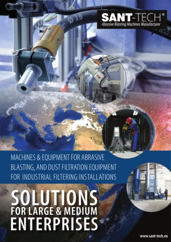 MACHINES & EQUIPMENT FOR ABRASIVE BLASTING AND DUST FILTRATION EQUIPMENT FOR INDUSTRY