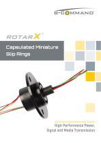 Capsulated Slip Rings rotarX by B-COMMAND