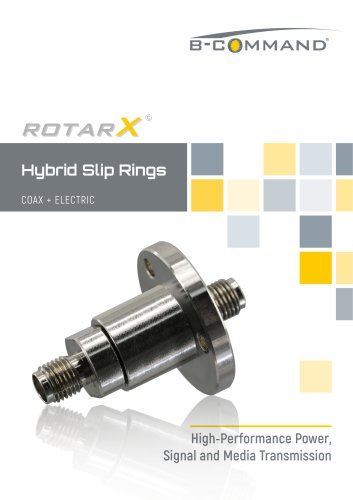 COAX Slip Rings rotarX by B-COMMAND