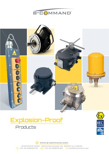 Products for hazardous Areas (ATEX, IECEx) B-COMMAND