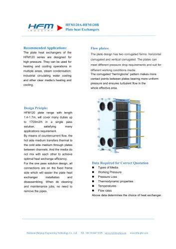 HFM120 Plate heat Exchanger