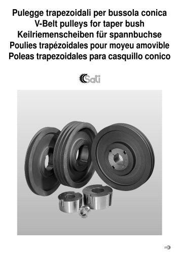 V belt pulleys