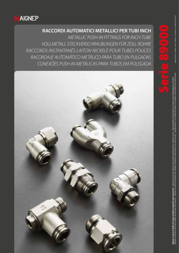 INCH TUBE PUSH-IN FITTINGS WITH METAL COLLET